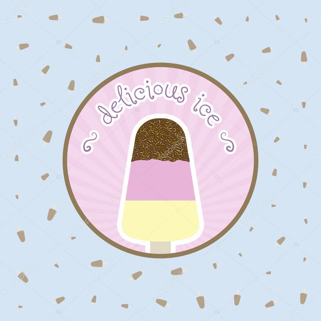 plantilla de diseño de restaurante helado menú portada vector ...
