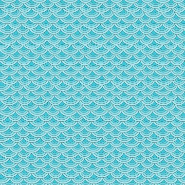 Marine fish scales simple seamless pattern in soft pastel colors clip art vector