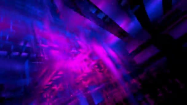 Abstrakte futuristische Cyberspace Neon und blau gefärbte Technologie Hintergrund