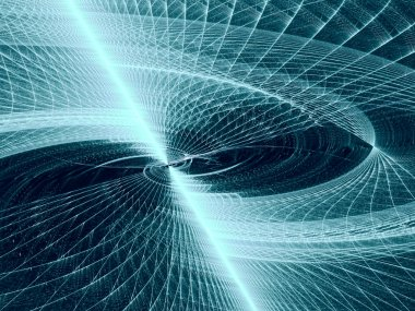 Abstract digitally generated image technology disk