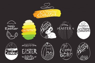 label elements Easter phrases .Greeting card text templates with