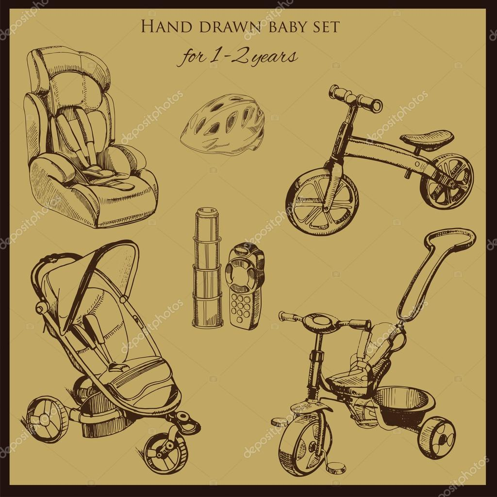 ᐈ Tricycle Drawing Stock Vectors Royalty Free Tricycle Sketch Illustrations Download On Depositphotos