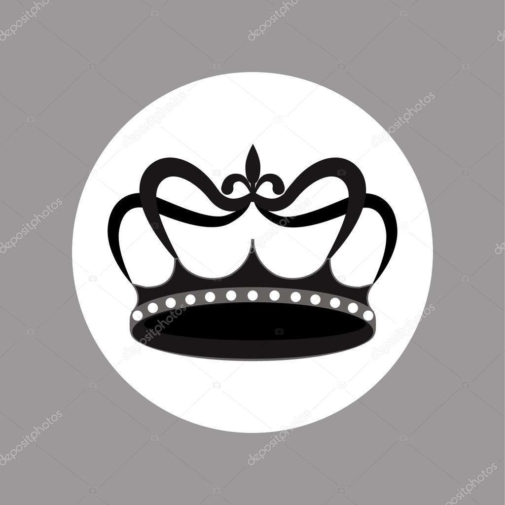 Imágenes Coronas En Blanco Y Negro Icono De Vector De Diseño De