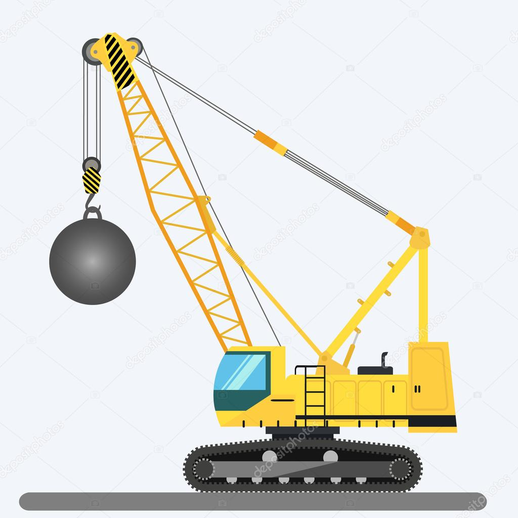 Grue De Boule Illustration Vectorielle De Machinerie