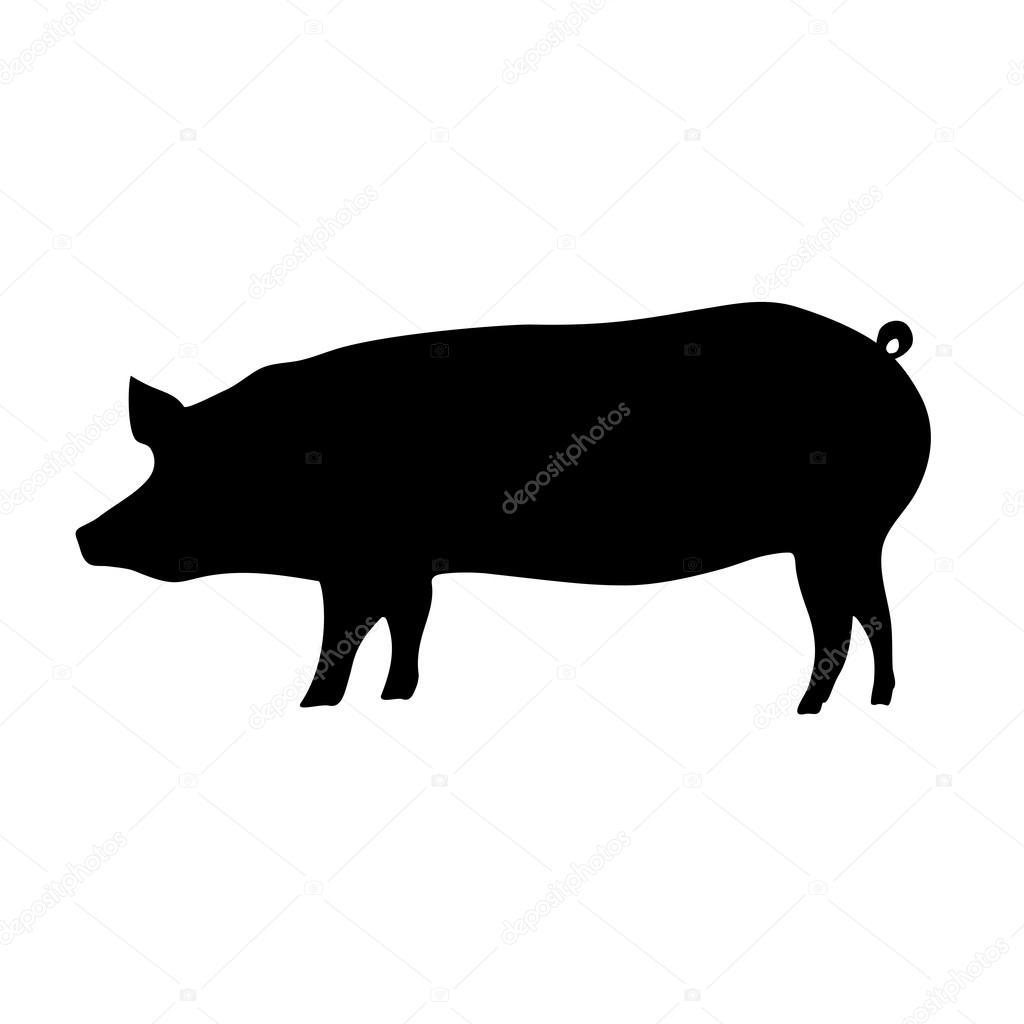 豚のシルエット ストックベクター Virulaine 87497686