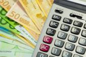 Euro peníze, účty a Kalkulačka
