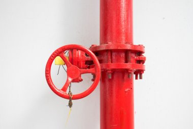 firefighter water pipe with manual valve