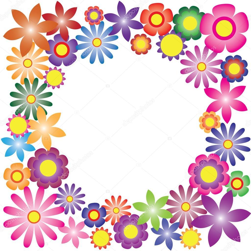 Vector De Flores De Colores Para El Fondo Archivo Imágenes