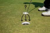 golfista uvedení golfový míček