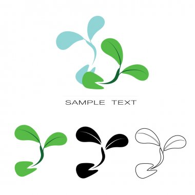 Seeding icon -  icon seeds sprout vector silhouette set.