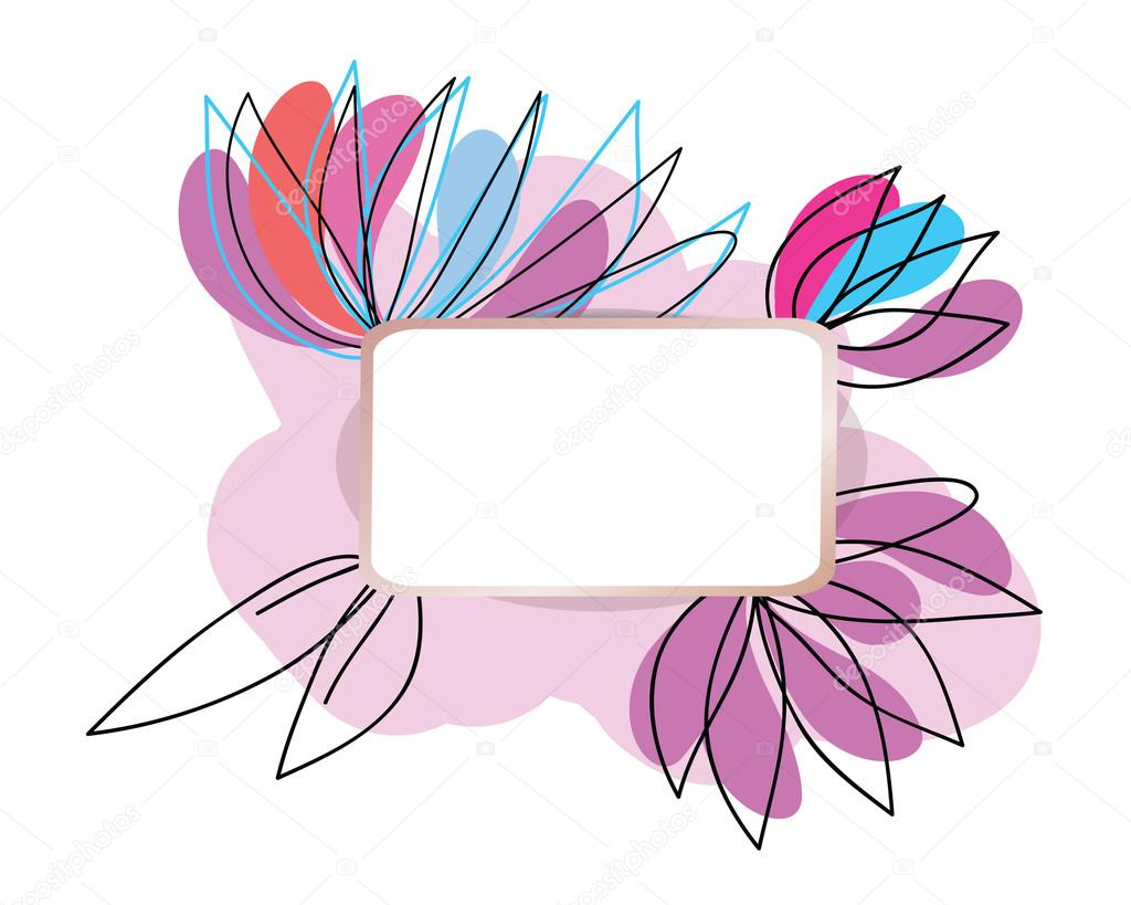 Lotus flower abstract frame hand drawn vector design element lotus flower abstract frame hand drawn vector design element paper label as frame for mightylinksfo
