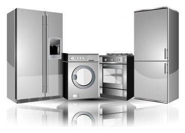 Equipment: a refrigerator, washing machine, stove.