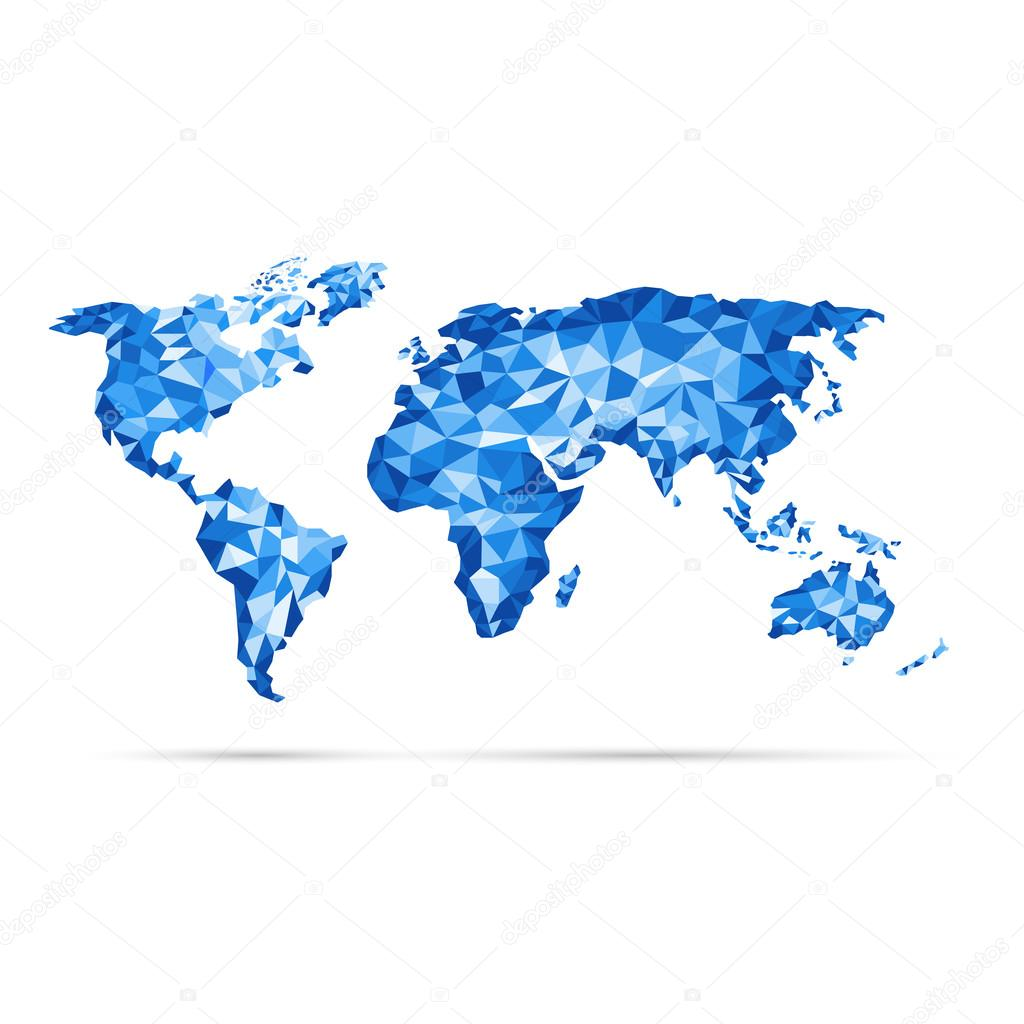 Azul de vectores mapa del mundo precisin poligonal low poly azul de vectores mapa del mundo precisin poligonal low poly vector de raccoondaydream gumiabroncs Image collections