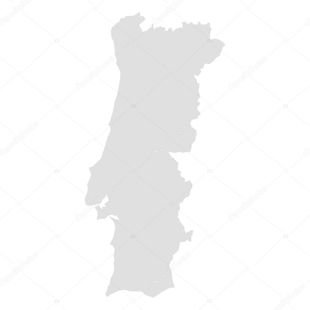 portugal mapa vector vector map of Portugal — Stock Vector © raccoondaydream #102246404 portugal mapa vector