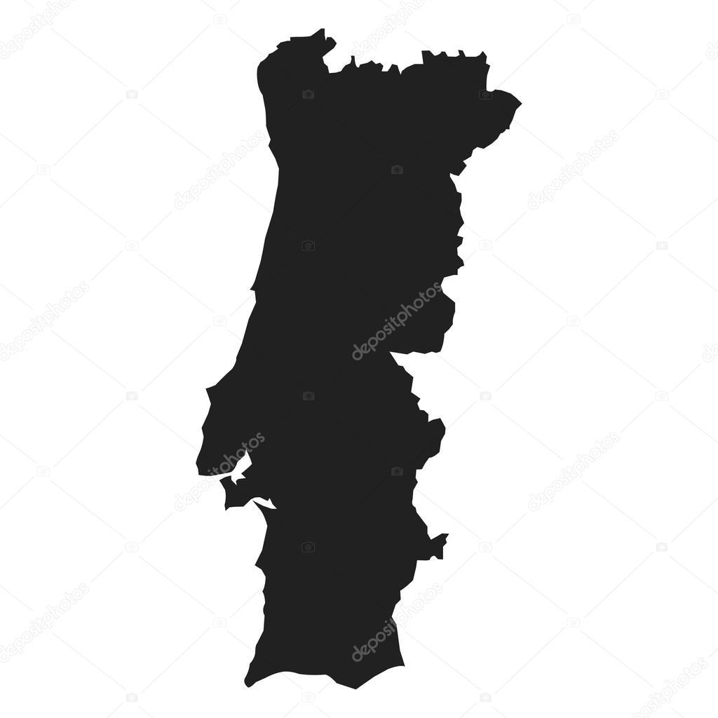 Vector Kaart Van Portugal Stock Vector C Raccoondaydream 102248440