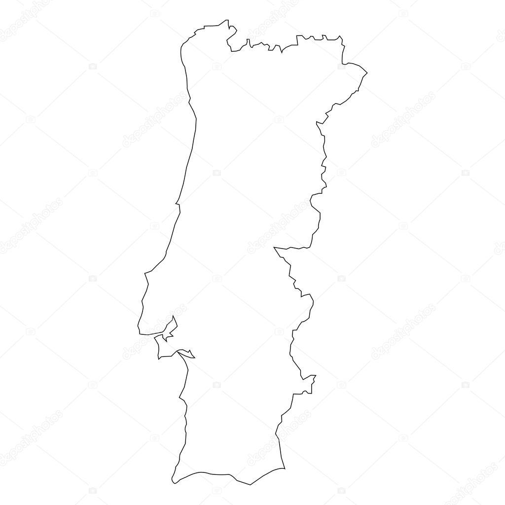 mapa de portugal vectorizado mapa do vetor de Portugal — Vetor de Stock © raccoondaydream  mapa de portugal vectorizado