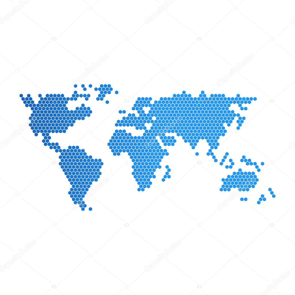 Vector world map element furnished by nasa stock vector vector world map element furnished by nasa stock vector gumiabroncs Image collections