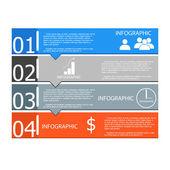 Vektorové ilustrace Infographic pracovního diagramu číslo možnosti rozložení webdesignu