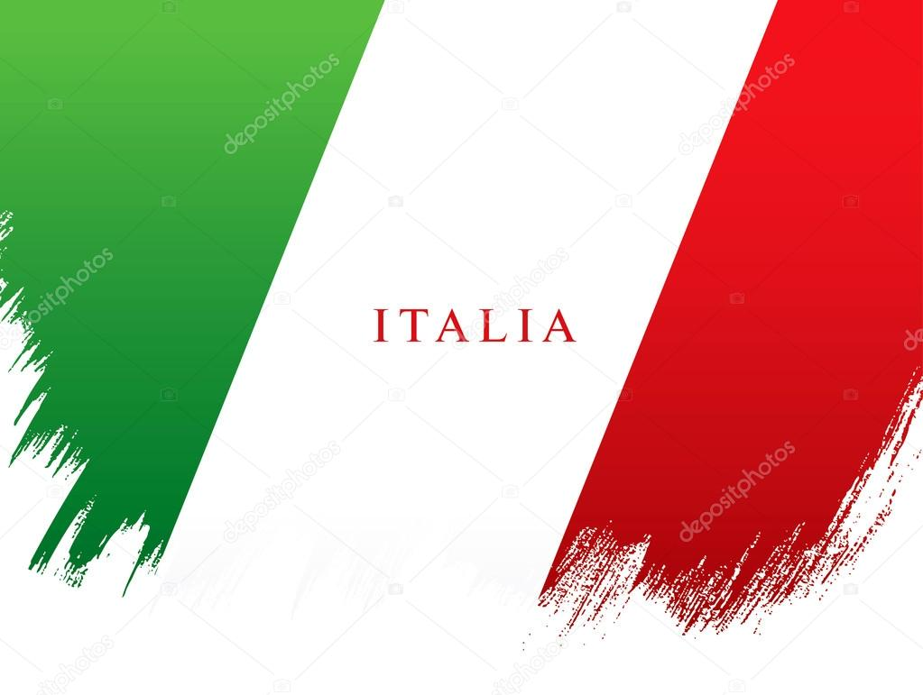 italian flag italian republic holiday � stock vector