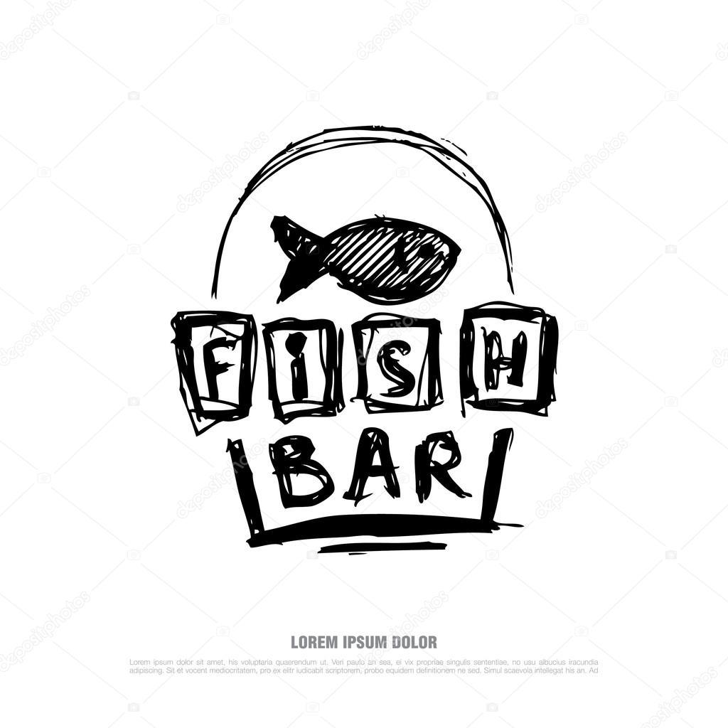 Fish Bar Logo — Vector De Stock © Igor_Vkv #118056234