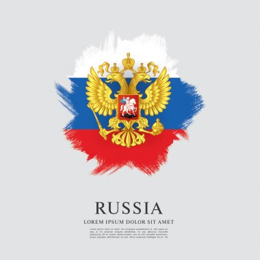 Flag of Russia. Coat of Arms.