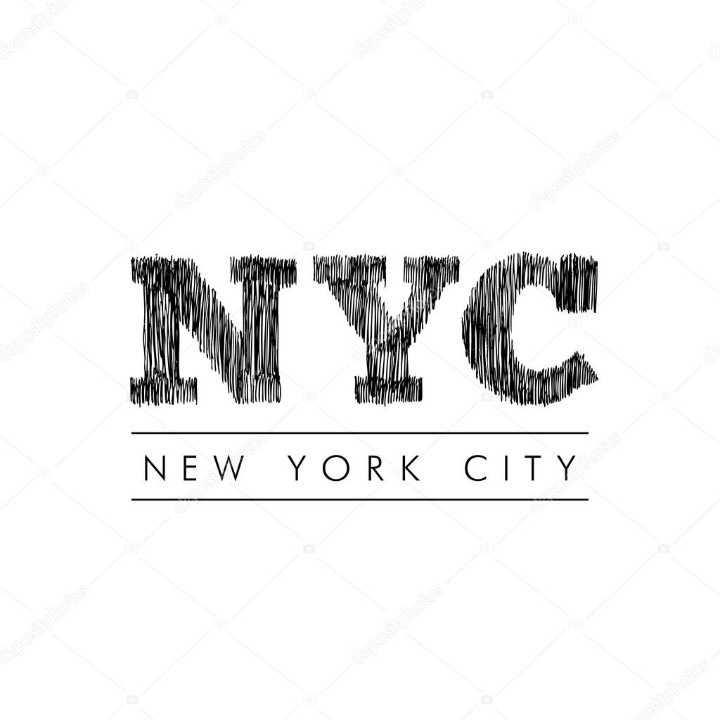 new york city lettering nyc stock vector igor vkv 121494644. Black Bedroom Furniture Sets. Home Design Ideas