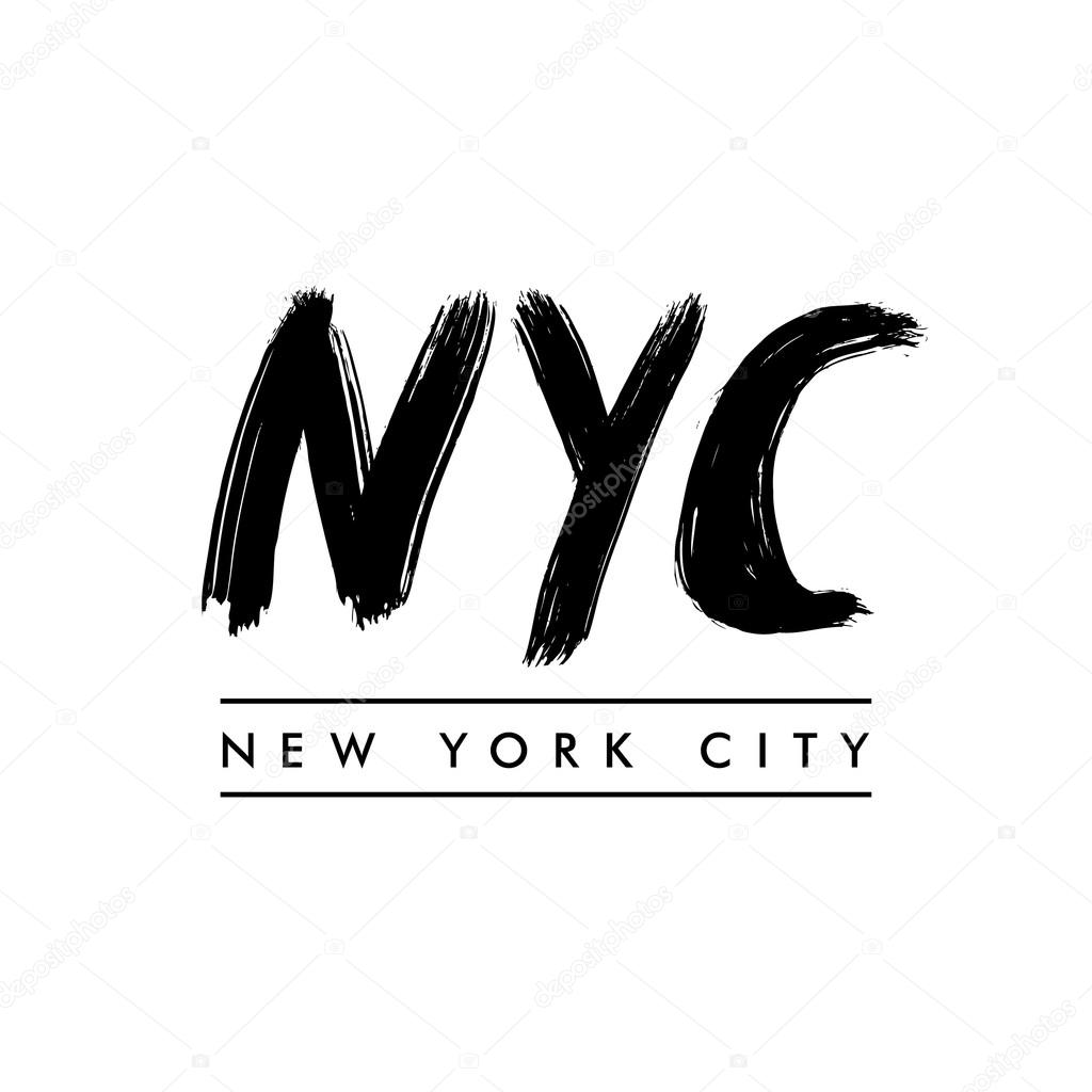 New York City Lettering Nyc Stock Vector Igorvkv 121494910