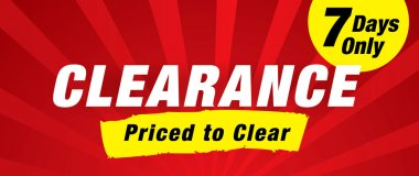 Clearance. Priced to clear