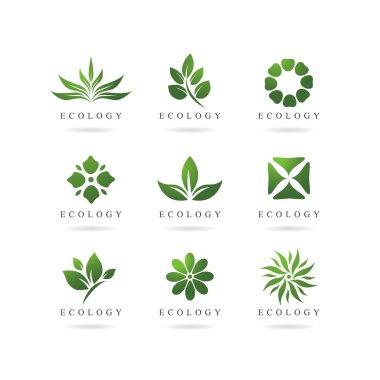 Eco green logos