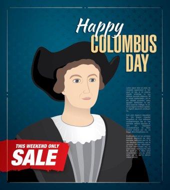 Happy Columbus Day. Sale