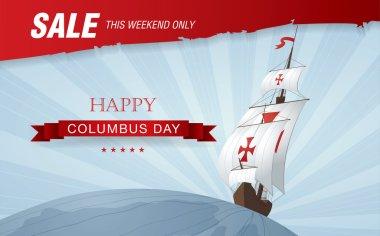 Columbus Day. Sale