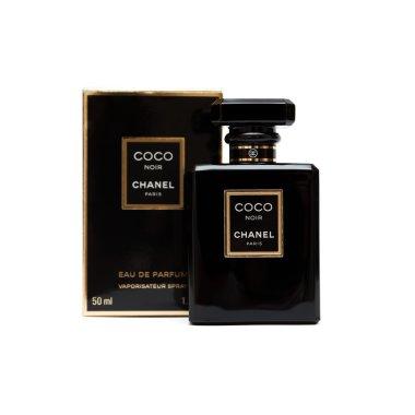 ORENBURG, RUSSIA - OCTOBER 11,2015: Coco Chanel Noir (Black) Perfume bottle. Paris. France