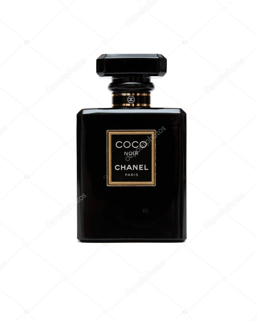 ORENBURG, RUSSIA - OCTOBER 11,2015: Coco Chanel Noir (Black) Perfume bottle. Paris. France