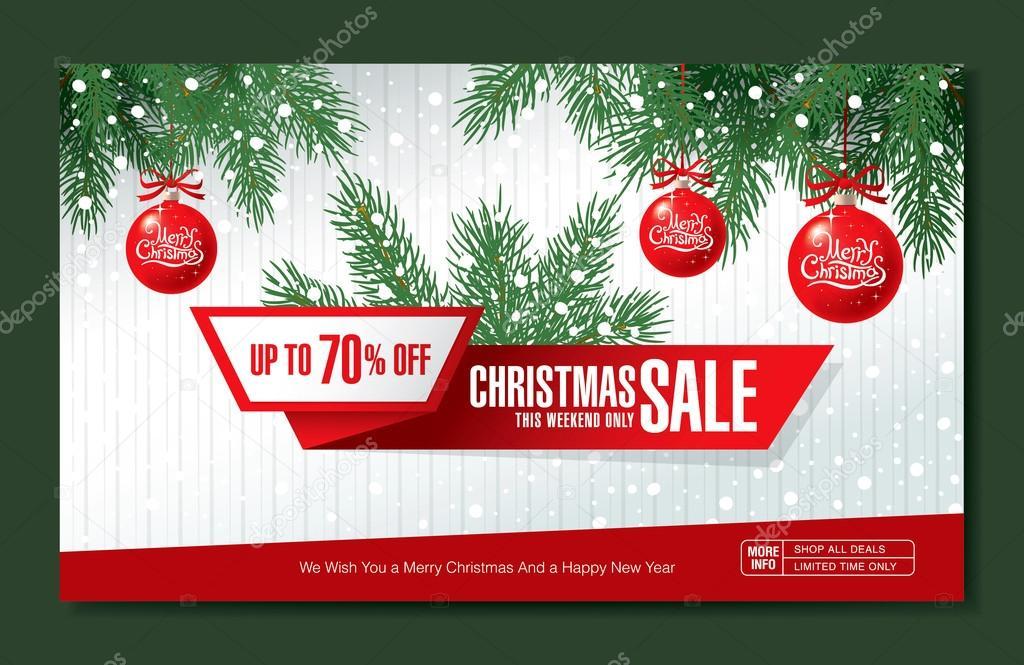 Weihnachten-Verkauf-banner — Stockvektor © Igor_Vkv #94201862