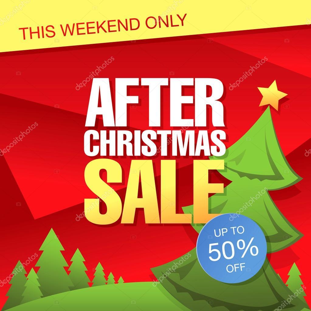 nach Weihnachtsverkauf — Stockvektor © Igor_Vkv #94202034