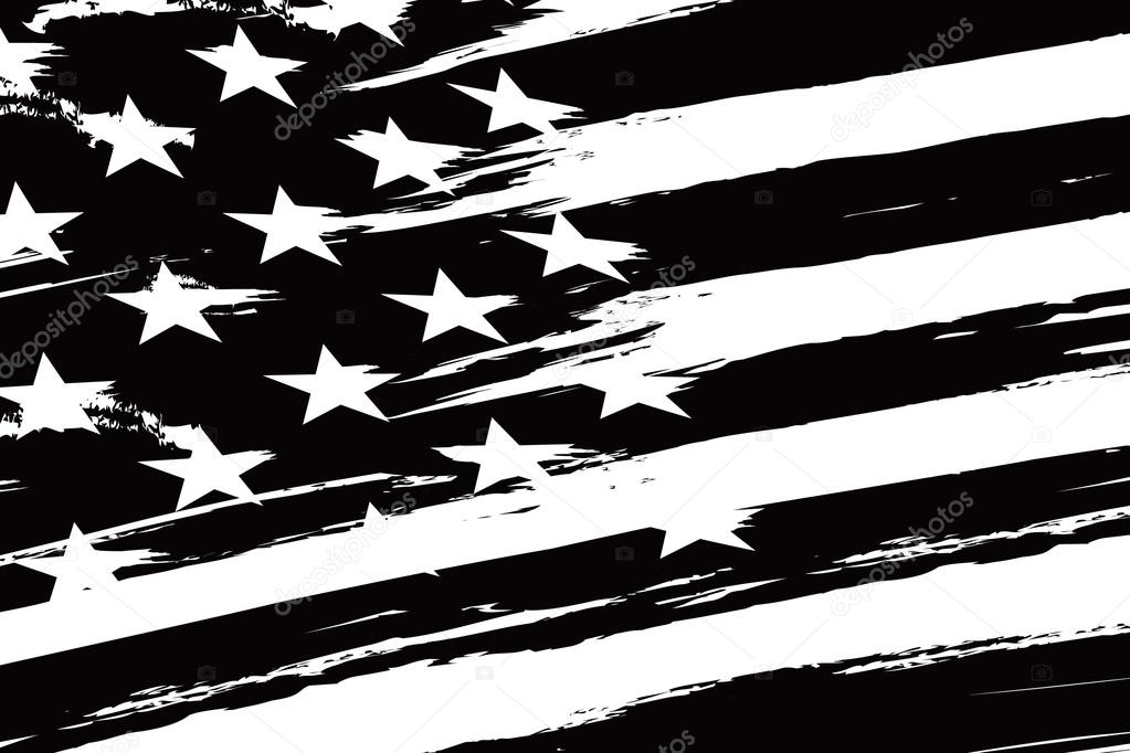black and white american flag � stock vector 169 igorvkv