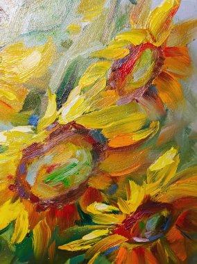 """Картина, постер, плакат, фотообои """"текстура живопись маслом, цветы, искусство, окрашенное цветное изображение, краска , картина пейзаж постеры портрет ретр"""", артикул 100756178"""
