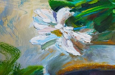 "Картина, постер, плакат, фотообои ""текстура живописи маслом, цветы, фрагмент живописи картина пейзаж все"", артикул 100756632"