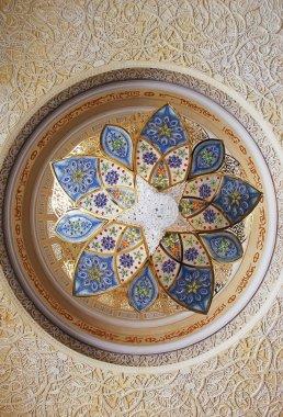 Chandelier inside Sheikh Zayed Mosque, Abu Dhabi, United Arab Em