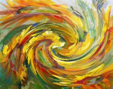 "Картина, постер, плакат, фотообои ""текстура живописи маслом, цветы, фрагмент живописи картина"", артикул 107042396"