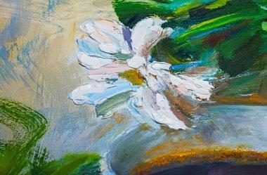 "Картина, постер, плакат, фотообои ""текстура живописи маслом, цветы, фрагмент живописи картина все"", артикул 107046084"