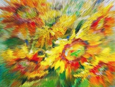 "Картина, постер, плакат, фотообои ""текстура живописи маслом, цветы, фрагмент живописи картина пейзаж все"", артикул 113915916"