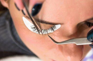 eyelash at the beauty salon, facials, make-up