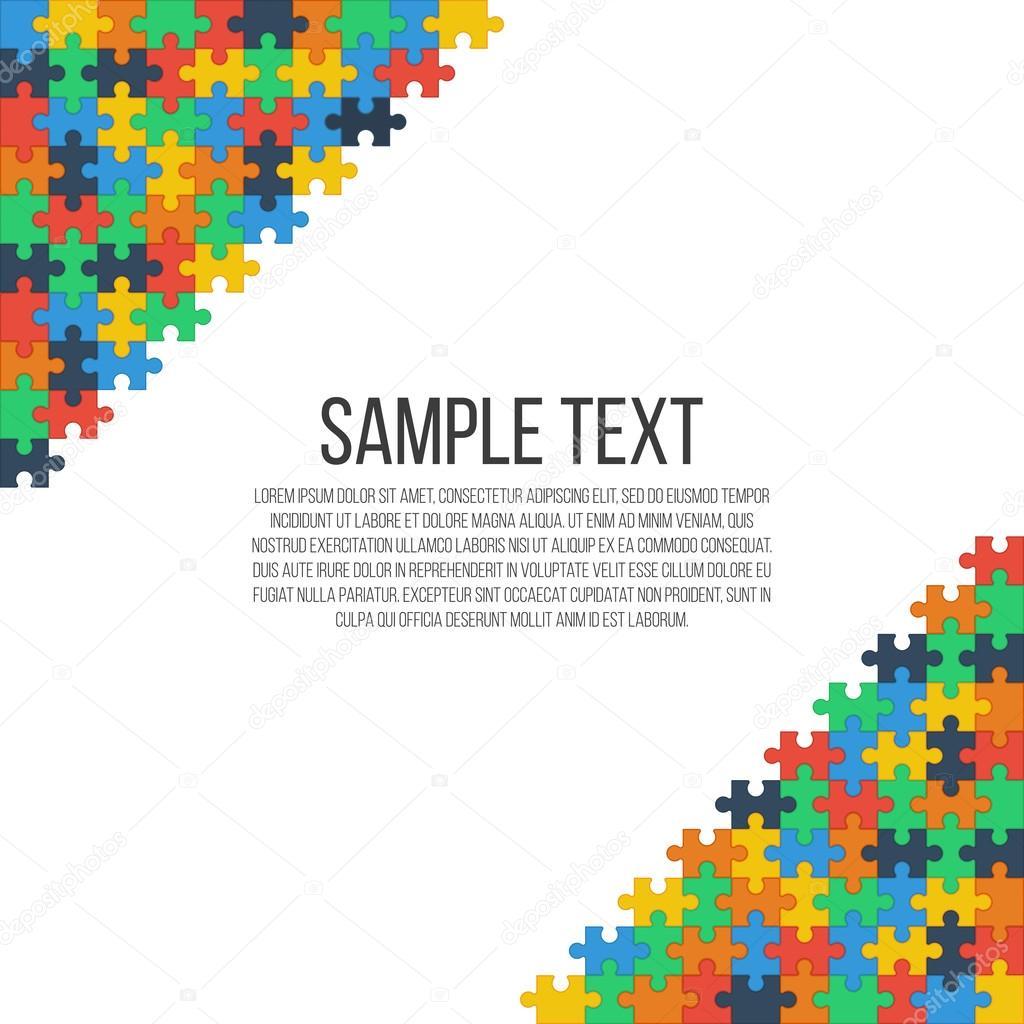 bunte Puzzle-Rahmen — Stockvektor © gn8 #118362932