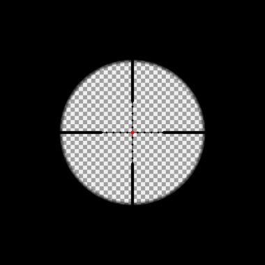 Sniper scope overlay