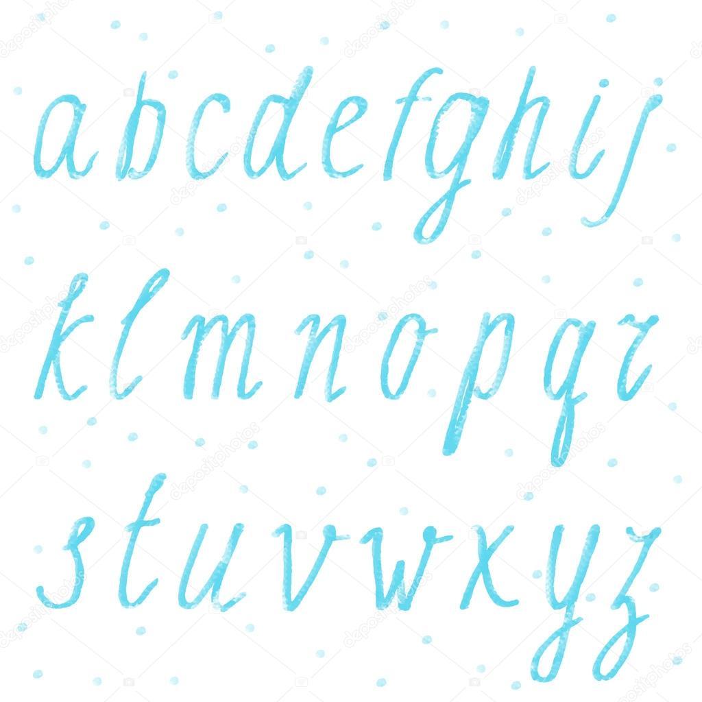 Handdrawn Alphabet Druckschrift Stockvektor C Happiestsim 90548014