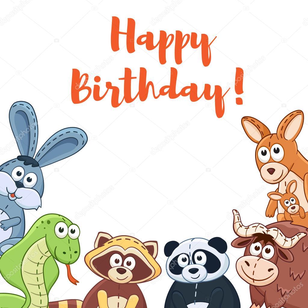 kreslené přání k narozeninám přání k narozeninám kreslený — Stock Vektor © ollymolly #103987486 kreslené přání k narozeninám