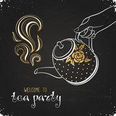 Tea party meghívó