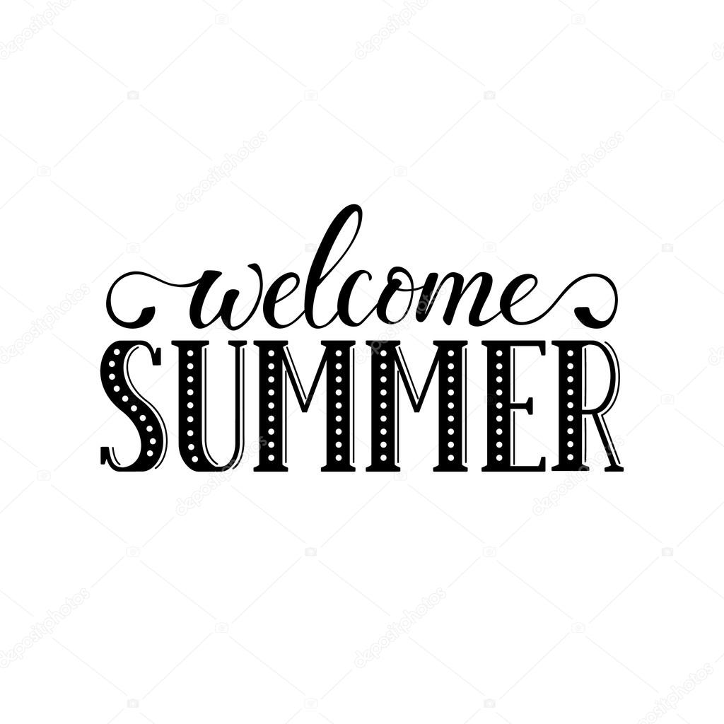 welcome summer wording  u2014 stock vector  u00a9 ollymolly  106186706