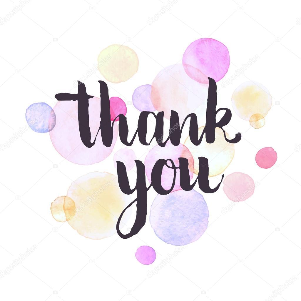 Thank You Greeting Card Stock Vector Ollymolly 106732196